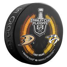 2016 NHL Anaheim Ducks vs Nashville Predators Stanley Cup Playoffs Hockey Puck