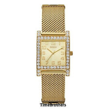NEW GUESS WATCH for Women * Gold Tone Stainless Steel Mesh Bracelet * U0130L2