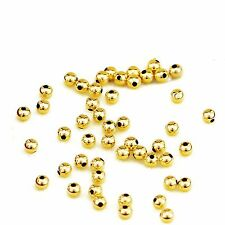 Real Pure Solid Au750 18K Yellow Gold Beads /Women's Lucky 3mm Beads Pendant