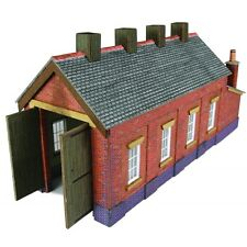 Single Track Engine Shed - Red Brick - N Card kit – Metcalfe PN931