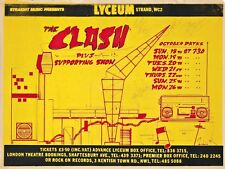 "THE CLASH LYCEUM 16"" x 12"" Reproduction Concert Poster Photo"