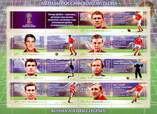 Russia 2016 MNH Russian Football Legends 2018 World Cup 7v M/S Soccer Stamps