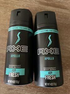 AXE Apollo 48-Hour Fresh Deodorant Body Spray - 4oz (2 Pack)