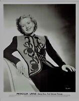 Priscilla Lane Actress Vintage Warner Brothers Portrait Photograph 10 x 8  PL672