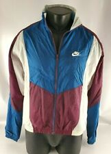 Vtg Nike 1990s Colorblock Full Zip Windbreaker Jacket Men's Adult Sz Medium (M)