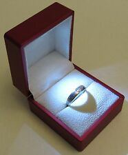 RED LED Lighting Jewelry Engagement Wedding Ring White Gift Box BR00038