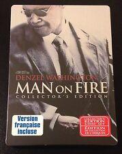MAN ON FIRE SteelBook DVD Canada Denzel Washington w/ All Stickers New OOP Rare
