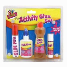 Craft Glue Set / Kids Creative Activity / Four Different Type Glue  Bottle