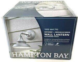 HAMPTON BAY Galvanized Outdoor Barn Light Wall Mount Sconce EW10139GV
