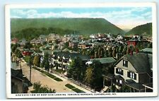 *1922 Town View West Side Towards Narrows Cumberland Maryland Md Postcard A82