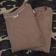 Lot 2 Vintage Brown Us Army Military Bdu T Shirt Skate Surf Punk Grunge