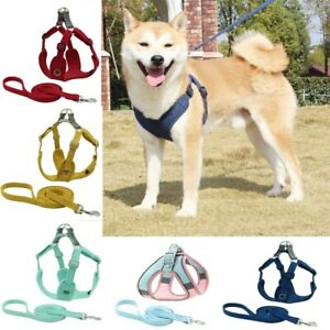 Pet Dog Reflective Harness Leash Puppy Vest Medium Dogs Adjustable Mesh Collar
