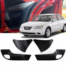 Carbon Door Decal Sticker Cover Kick Protector For HYUNDAI 2009-2010 NF Sonata