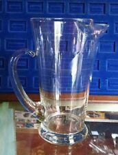 Vintage Pyrex Blown Glass Pitcher, Clear, Nice!