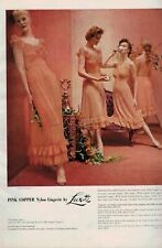 1955 LUXITE  Lingerie  : Pink copper    Magazine  PRINT AD