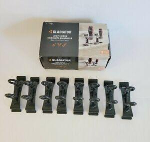 Gladiator GAWAJL8PPH J&L Hooks 8-Pack GearTrack GearWall Wall Mountable Black
