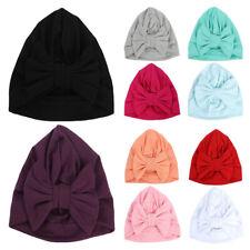 2 Packs Toddler Baby Girls Stretchy Turban Hat Bowknot Beanie Hat Hair Head Wrap