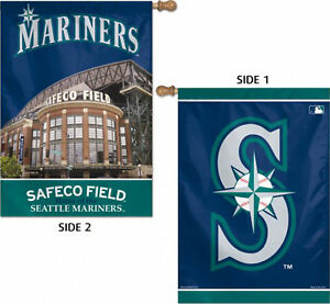 """Seattle Mariners House Flag MLB Licensed Baseball Double Sided 28""""x40"""""""