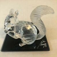 NIB Swarovski Crystal Figure SCS 10th Anniversary Edition Squirrel W/COA