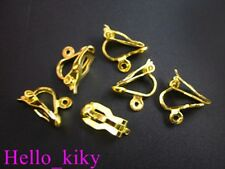 120Pcs Gold plate clip on earring FINDINGS M311