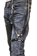 Leather Leg Thigh Harness Leg Garter Ring & Trigger Clasp Punk Goth Costume