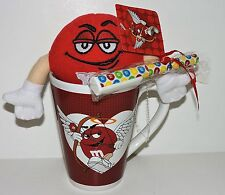 """M&M'S RED CHARACTER LIMITED EDITION VALENTINE """"PLUSH IN A 12 OZ MUG GIFT SET"""""""
