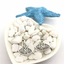 Jesus Charm Earrings Tibet silver Charms Earrings Charm Earrings for Her