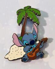 Disney Pin 17987 Stitch Playing the Ukulele Under a Palm Tree Pin