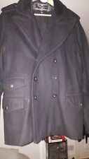 Pepe Jeans London Wool Rich Double Breasted Jacket XL in Black