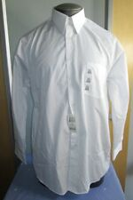 Van Heusen Dress Shirt Button Up Shirts Long Sleeve White Medium 15 1/2 32/33