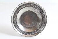 Schwerer massiver Teller verziert Messing versilbert original antik LARP Deko