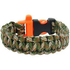 """The Olivia Collection Mens - Boys Cameo Paracord 9"""" Survival Bracelet"""
