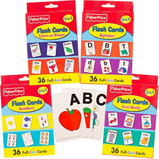 Fisher-Price Preschool Flashcards for Toddlers Kids Learning Set, 2-4 Years - 4