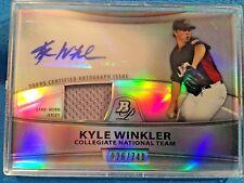 KYLE WINKLER 2010 Bowman Platinum Baseball Auto/Relic /740 #PAR-KW Mint