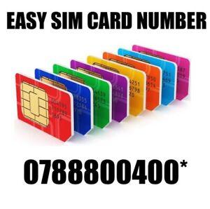 GOLD EASY VIP MEMORABLE MOBILE PHONE NUMBER DIAMOND PLATINUM SIMCARD 800400