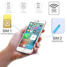 Portable Dual SIM Card Bluetooth Adapter Converter with Key Ring for iPhone IOS