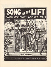 SONG OF THE LIFT (HIGH-DEE-HIGH! LOW-DEE-DO!) Music Sheet-1936-LONDON ELEVATOR