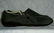 Women's Gray Leather CLARKS PRIVO Loafers Size 11 M GREAT Condition