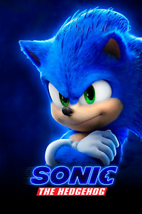 SONIC MOVIE POSTER son02 (CHOOSE SIZE - A5/A4/A3/A2/A1)