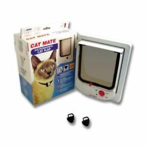 Pet Mate Electromagnetic Cat Flap Door White 254 W