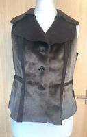 Habella Ladies Gilet 14 Faux Fur Winter Casual Smart Soft Raw Edges Waistcoat