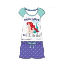 Ladiesofficial Disney Ariel Little Mermaid Shortie Cotton Pyjamas Sizes 8-22 8-10