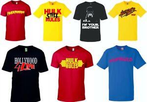Hulkamania T-Shirt Hulk Still Rules Tee Hollywood Hogan WWF WCW TNA GILDAN