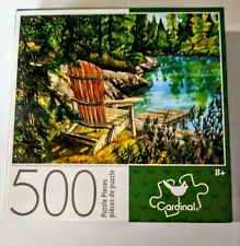 Lake Scene Jigsaw Puzzle 500 Pieces Cardinal 11x14in