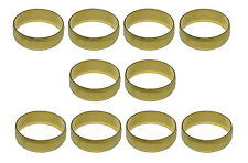 22mm Brass Olives (10 Pack) For Compression Plumbing Fittings