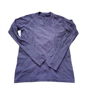 Lululemon 12 XL Long Sleeve Run Swiftly Top Concord Grape Purple Special Ed