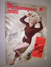 JAYNE MANSFIELD FRONT COVER ON PICTUREGOER MOVIE MAGAZINE 1955. VINTAGE MAG
