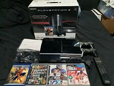 Sony PlayStation 3 40GB Console - Piano Black PS3 W/Extras
