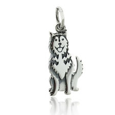 Siberian Husky Dog Charm - 925 Sterling Silver - Pet Lover Animal Gift
