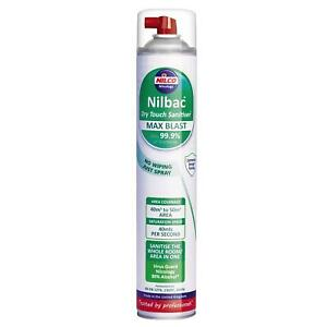 Nilco Nilbac Dry Touch Sanitiser 750ml Max Blast Aerosol X 2